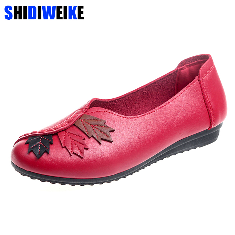 2018 Soft Women Shoes Flats Moccasins Slip on Loafers PU Leather Ballet Shoes Fashion Casual Ladies Shoes Footwear M852 women s shoes hosteven pu leather loafers comfortable shoes women flats moccasins solid ladies casual shoe ballet footwear