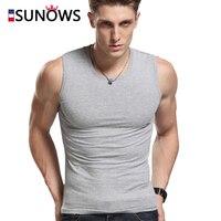 White Gray Black Fashion Brand Men S 100 Cotton O Neck Tank Tops Summer Male Sleeveless