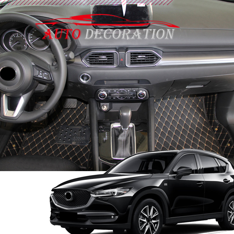 For Mazda CX-5 CX5 2nd Gen 2017 2018  Interior Custom Car Styling Waterproof Auto Floor Waterproof Mats & Carpets Pads амортизатор капота rival для mazda cx 5 2011 2017 2017 2 шт