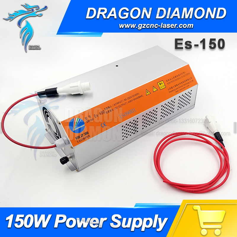 EFR 150W co2 laser power supply for EFR laser tube laser cutting and engraving machine yongli efr co2 40w water cooling tube laser power supply 110v 220v high voltage for engraving cutting machine psu myjg 40w