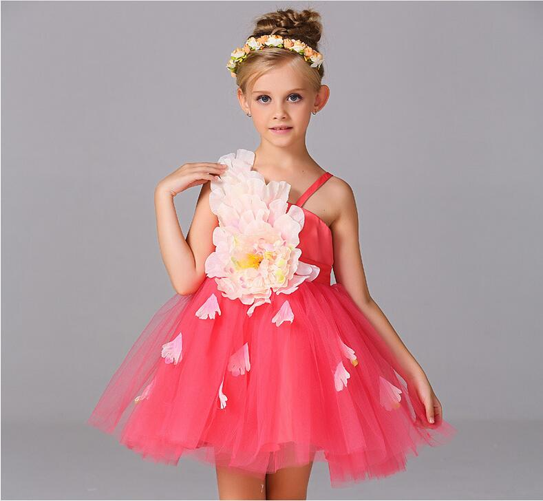 ФОТО A-Line Flower Girl Dress O-neck Little Girl Pageant Dresses Kids Wedding Party Dress First Communion Dresses for Girl