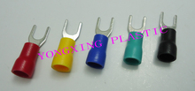 цена на 250pcs/lot SV5.5-5-6 insulated terminal block 12-10AWG 4-6mm2 cable red yellow blue green black five color mixed