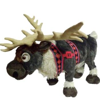 Big Size 38cm Cute Deer Cartoon Plush Toys Kids Reindeer Doll Milu Deer Stuffed Animals Movie Cartoon Christmas Gift Toy for Kid