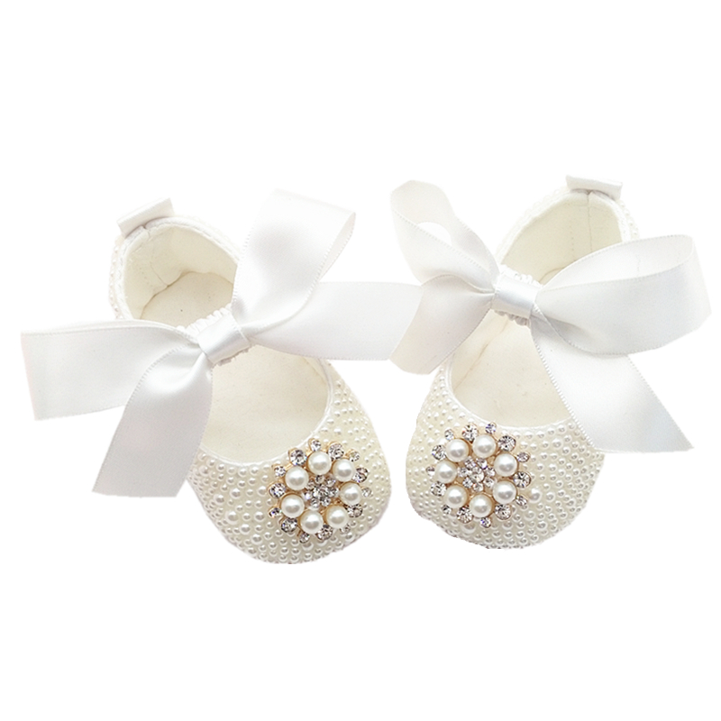100days Diamond Bling Pacifier Match Flower Baby Girl Shoes Christening Baptism Ivory Elegant Beautiful First Walkers Baby Shoes