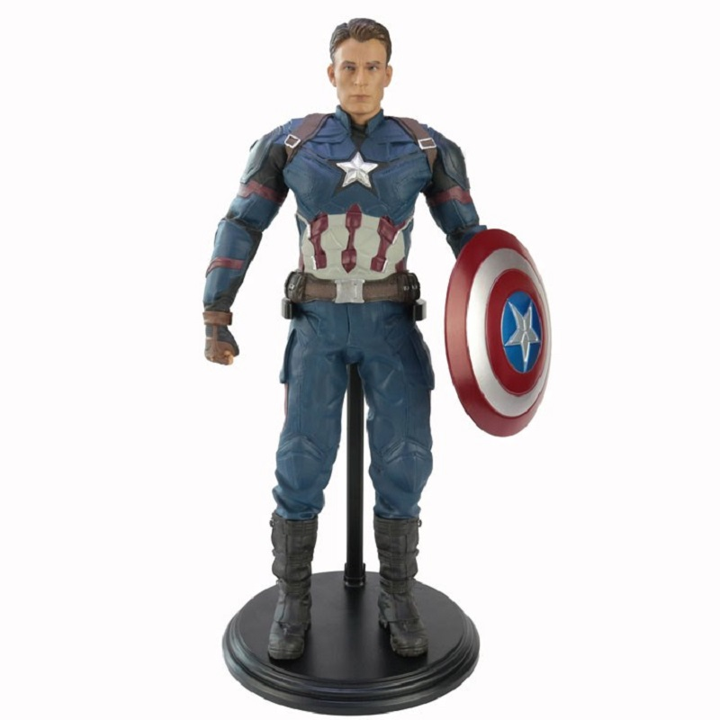 Marvel Avengers Civil War the statue of Captain America the Leader of the avengers Americanism Collectible Model ToyMarvel Avengers Civil War the statue of Captain America the Leader of the avengers Americanism Collectible Model Toy