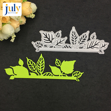 Julyarts Cutting Dies Frame Embossing Cutter Paper Creative Leaves For DIY Scrapbooking Craft Silver Metal