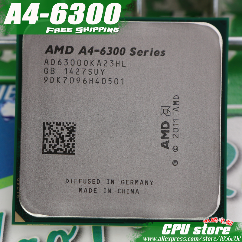 AMD A4 6300 Dual-core FM2 3.7GHz 1MB 65W CPU processor pieces A4-6300 APU Integrated graphics, sell A4 5300