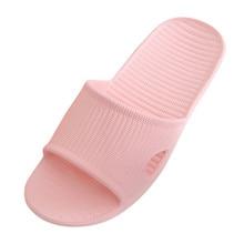 Тапочки, летние Нескользящие домашние тапочки, домашние тапочки в полоску для всей семьи, женские сандалии для ванной
