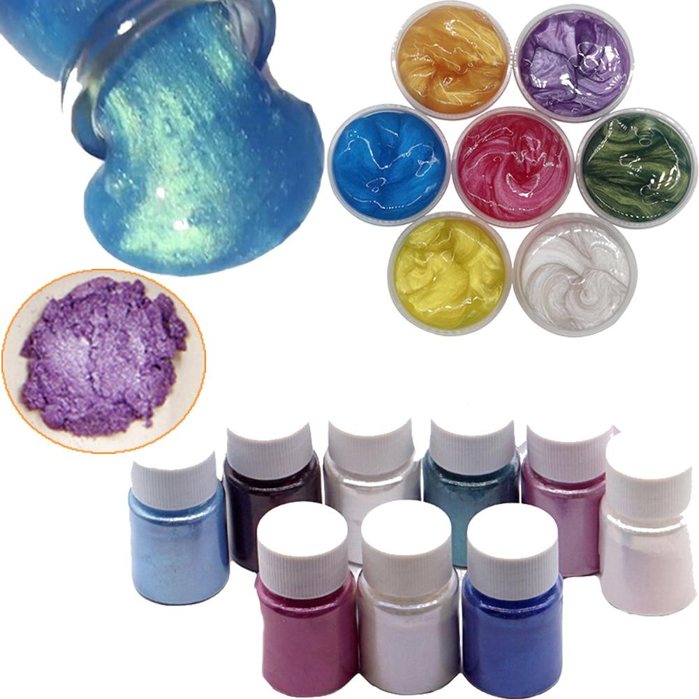 10g Pearl Powder DIY Fluffy Slime supplies Kit Glitter Powder decoration for slime Filler accessories Dye Multiple Crystal Mud