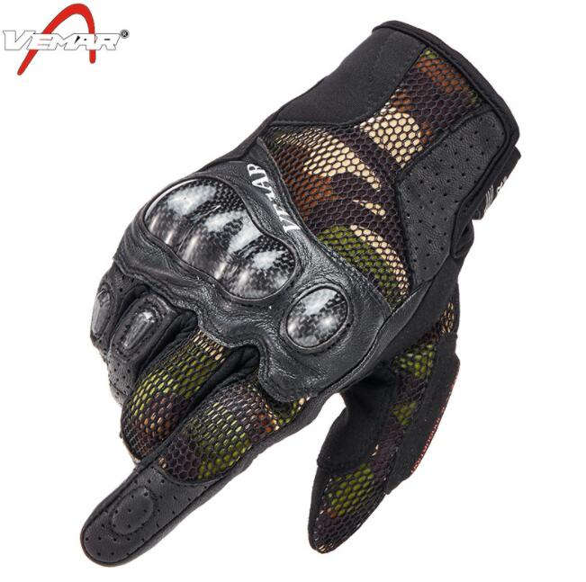 VEMAR Motorcycle Gloves Breathable Motorbike Moto Wear Non-slip Tactical Motocross Camouflage Motos