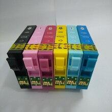 1 компл. T0801 картридж для Epson T0801-T0806 для Epson Стилусы P50 T59 R265 270 285 290 360 730WD 800FW 810 Вт 820FWD принтера