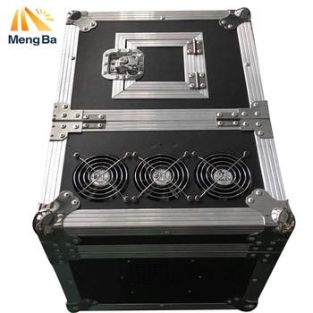 MENGBA 600 w Haze Machine Hoge kwaliteit Dual Hazer DMX512 Machine Fog Rookmachine Met Flight Case Stage Machine Effect