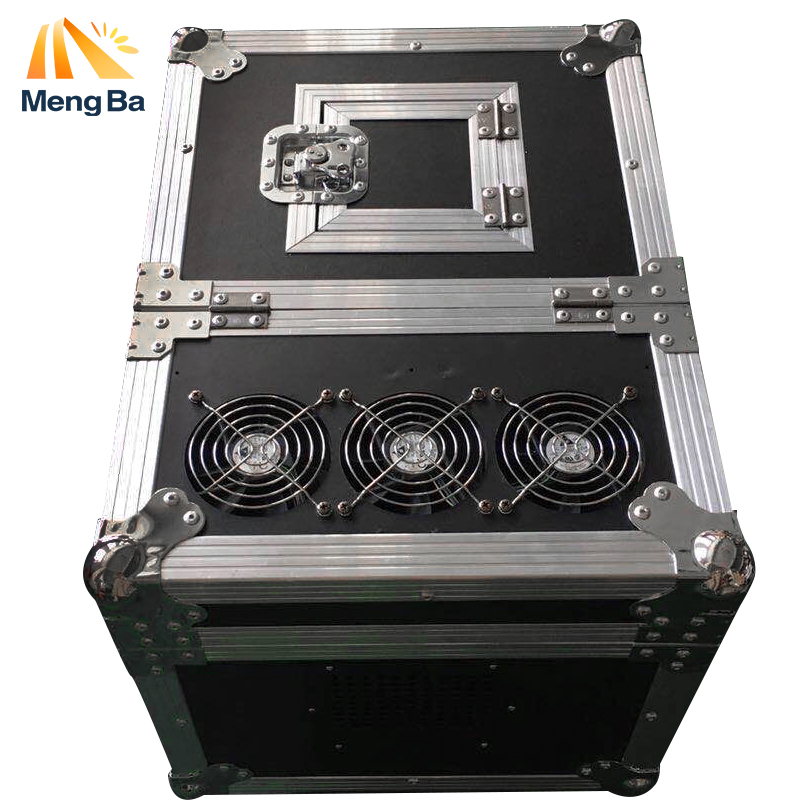 MENGBA 600W Haze Machine High quality Dual <font><b>Hazer</b></font> DMX512 Machine Fog Smoke Machine With Flight Case <font><b>Stage</b></font> Machine Effect image