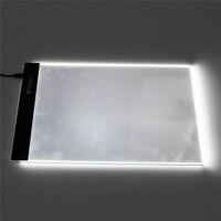 US Plug Acrylique Boîte à Lumière A4 LED Artiste De Tatouage Art pochoir Conseil Light Box Traçage Planche à Dessin Pad USB Nuit lumière