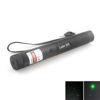 TopLaser 303 532nm Green Focusing LED Laser Pointer Single Point + Skyful stars (1x18650/1x16340)