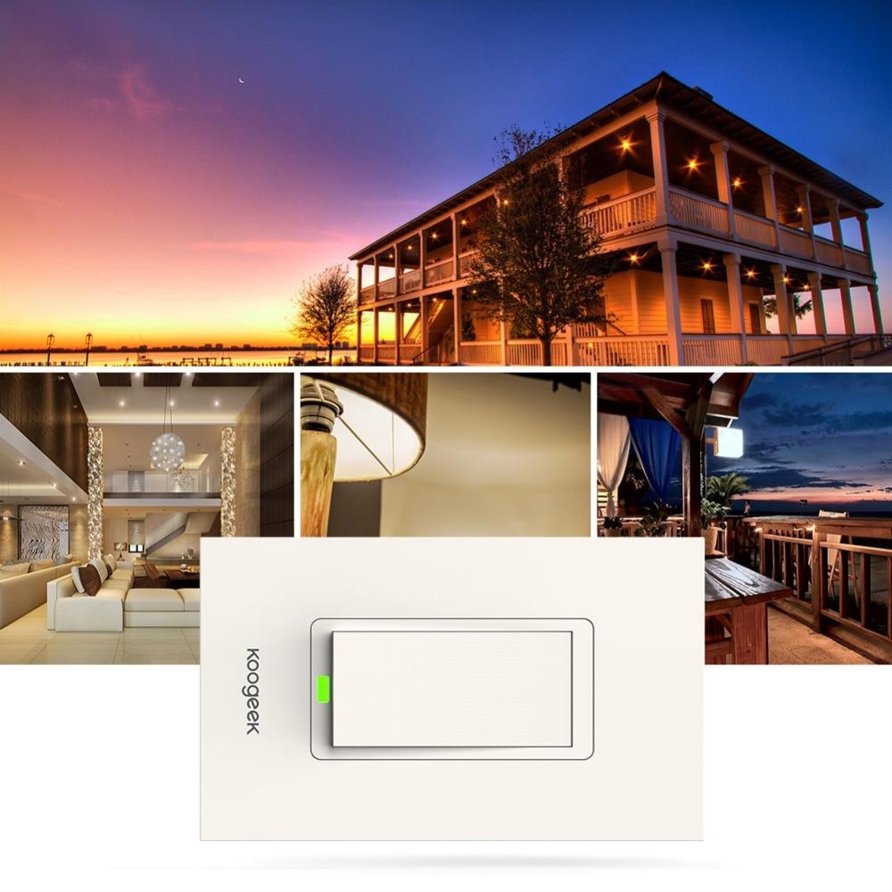 Koogeek Wi Fi Smart Licht Schalter für Apple HomeKit mit Siri ...