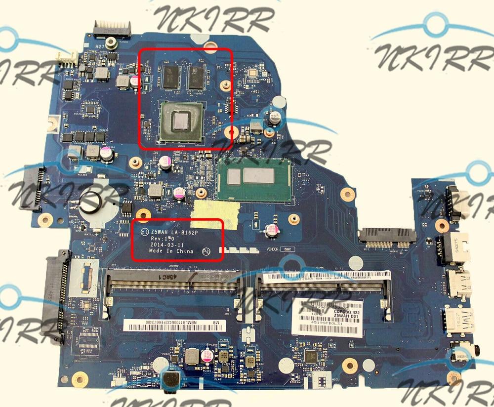 Z5WAH LA-B162P NBMRF11002 NBMLC11004 I5-4210U CPU 840M 2GB Motherboard For ASPIRE E1-572 E1-572G E5-571 E5-571G V3-572G V3-532G
