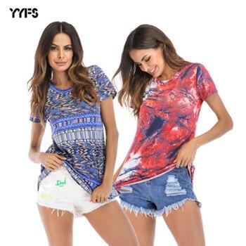 2018 New Harajuku Printed Women T-shirts Casual Tee Tops Summer Short Sleeve Female T shirt Women Clothing