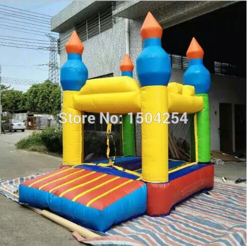 цены  high quality PVC tarpulin mini inflatable bouncer wonderful for kids for fun toy free shipping