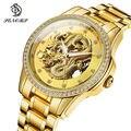 SENORS новые роскошные брендовые золотые мужские часы с драконом Мужские автоматические механические часы Relogio Masculino мужские наручные часы Му...