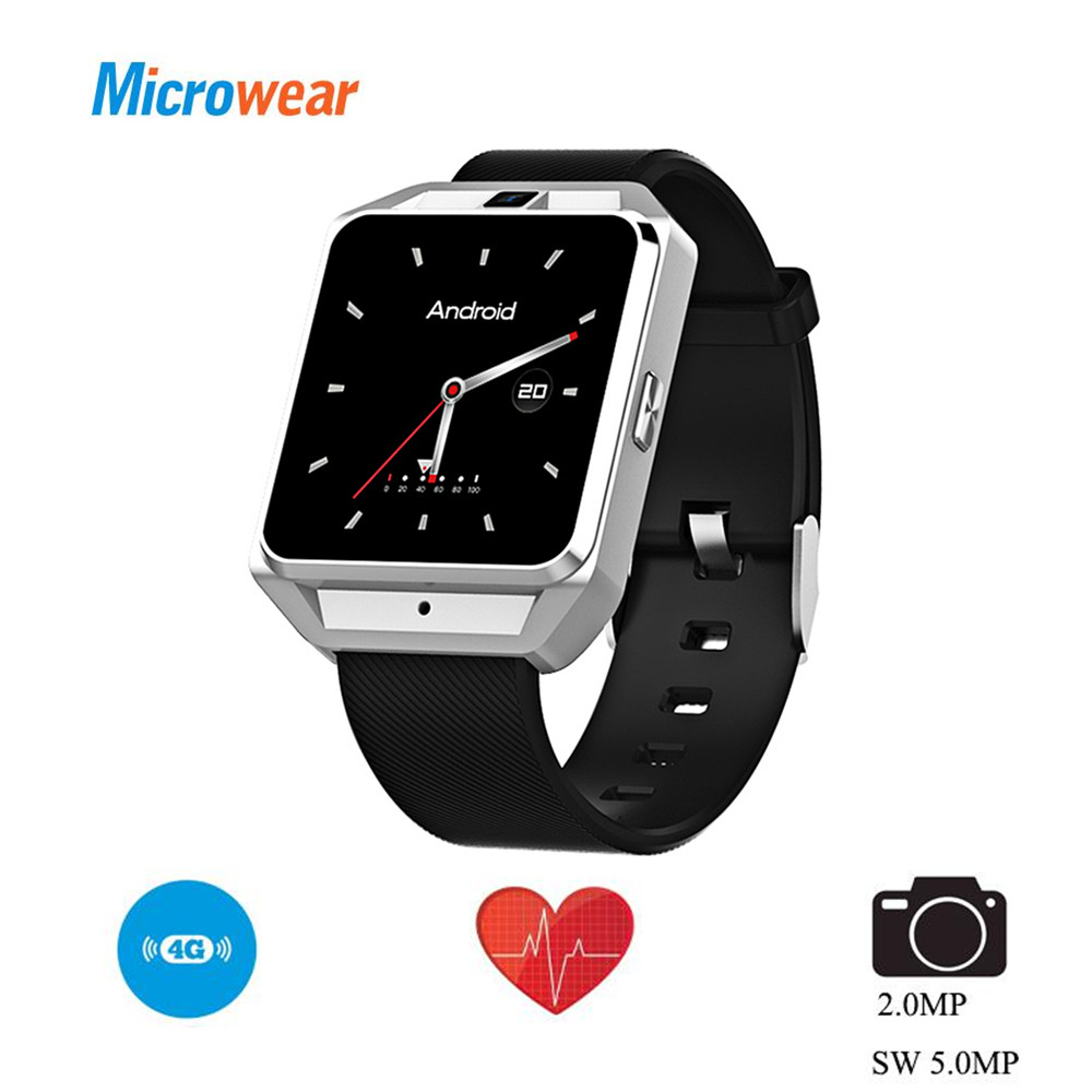 все цены на Microwear H5 4G Smartwatch Phone Quad Core 1.1GHz 1G RAM 8G ROM GPS WiFi Smart Watch Support Heart Rate Sleep Monitor Video Call