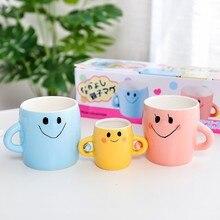 Семейный набор чашек для Кофе Молоко ручной работы, 3 штуки, милые чашки с картинками из мультфильмов и кружек для мамы, папы и ребенка, CU070914