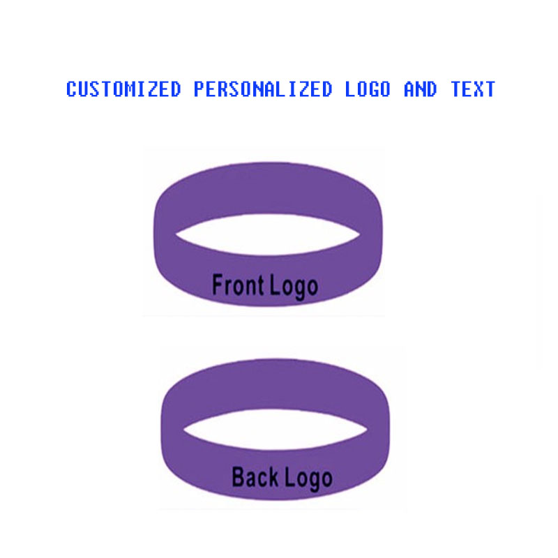 300pcs/Lot customized personalized Text Front And Back Rubber Silicoen Wristbands For Gifts P160803
