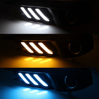 Daytime Running Light DRL for Honda Civic 2016 2017 Front Fog Light Cover White DRL Yellow Turning LIght / ice Blue Night Light
