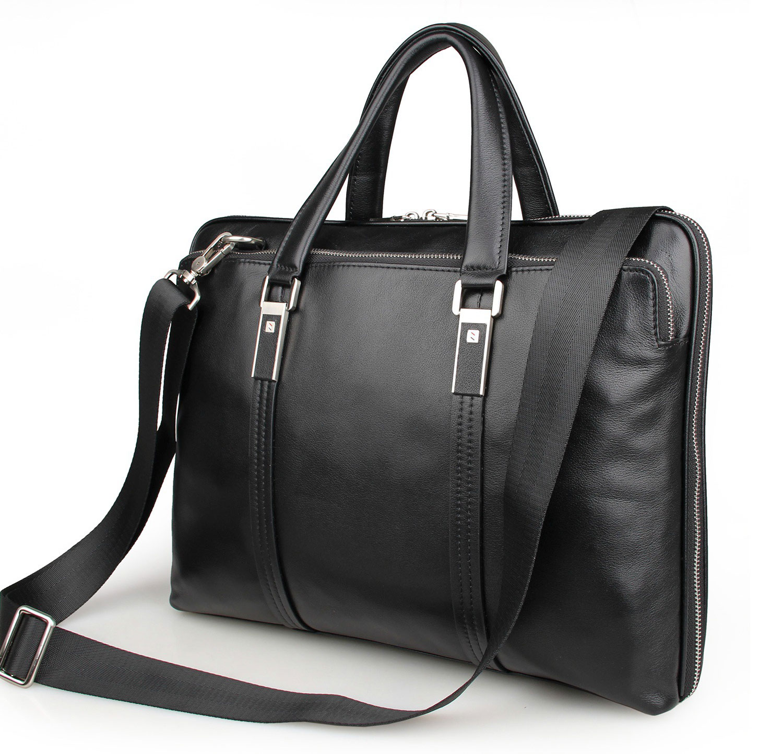Classic Vintage Men's Genuine Leather Briefcase 15