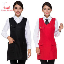 Supermarket milk tea bread hotpot manicure mother and baby shop uniform catering work clothes cafe apron custom logo