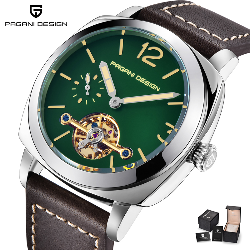 PAGANI DESIGN Luxury Tourbillon Automatic Watch Men Genuine Leather Mens Mechanical Watches Waterproof Male Clock Kol Saati 2018PAGANI DESIGN Luxury Tourbillon Automatic Watch Men Genuine Leather Mens Mechanical Watches Waterproof Male Clock Kol Saati 2018