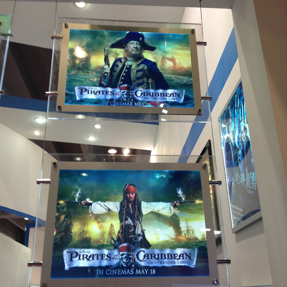 acrylic led illuminated movie poster frame a3 double side display light box signage for home theater