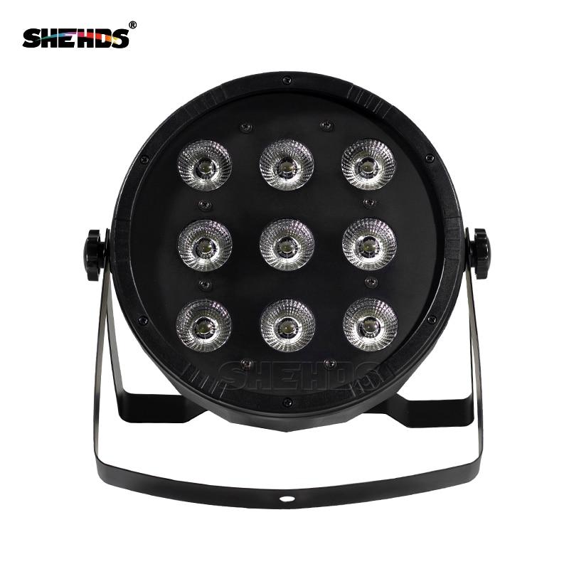 (4 piezas) LED Flat Par 9x12W RGBW 4IN1 / 9x10W + 30W RGB 3IN1 Iluminación sin ruido envío gratis DMX512 Controlador de equipos de DJ plano