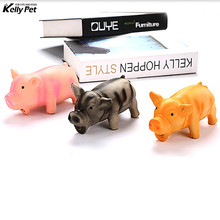 Cleaning Teeth Dog Cat Chewing Toy Pig Squeak Cute Rubber Pet Puppy Playing  With Sound Training Products