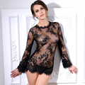 Sex Product Sexy Lingerie Through Long Sleeve Hot Skirt Summer Lace Silk Temptation Pajamas Transparent Women's Nightgown Sexy