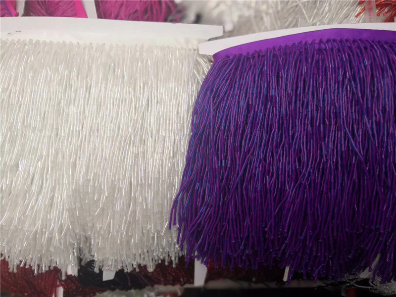 Pretty design stock 5yards  5 colors option beads tassel fringe 15cm width for bridal dress decoration-in Fabric from Home & Garden    1