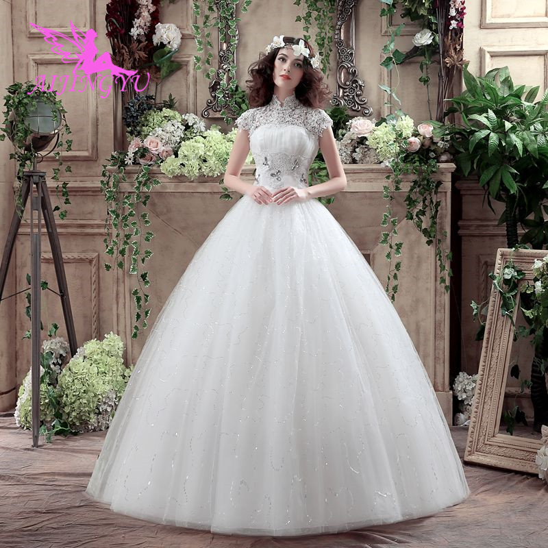 AIJINGYU 2018 princess free shipping new hot selling cheap ball gown lace up back formal bride dresses wedding dress WK392