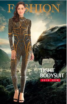 Cosplay Black Panther Costume Golden Deluxe Edition  Jumpsuits The Avengers Unisex Sets Uniform Suit Halloween Costume