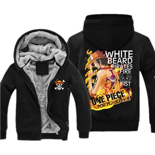 One Piece Thicken Zipper Sweatshirt Hoodie (21 Designs)