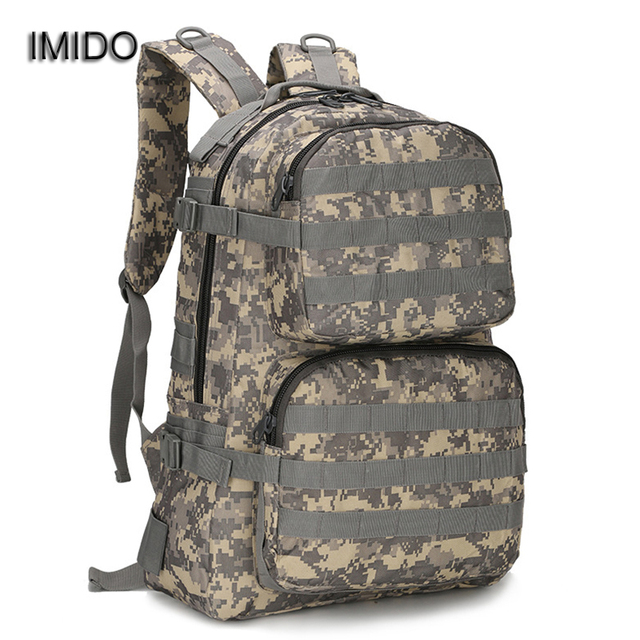 0b31ad6913cd IMIDO Fashion Camouflage Backpack Men backbags travel bag Functional  Backpacks for Male Black Green Big Rucksack mochilas SLD084