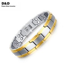 New fashion health bracelets for men jewelry stainless steel men bracelets jewelry with Magnetic and Germanium BR-076