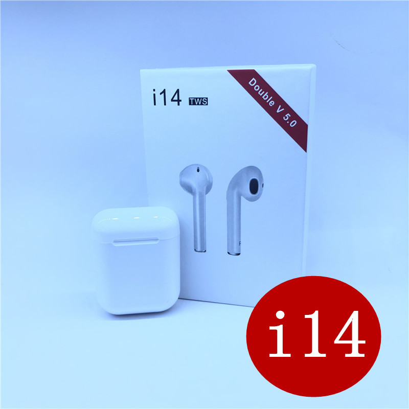 2019 i14 tws wireless earbuds Bluetooth earphone 1:1 mini 3D bass Headset PK i15 i13 i12 i10 i11 i88 i9s tws