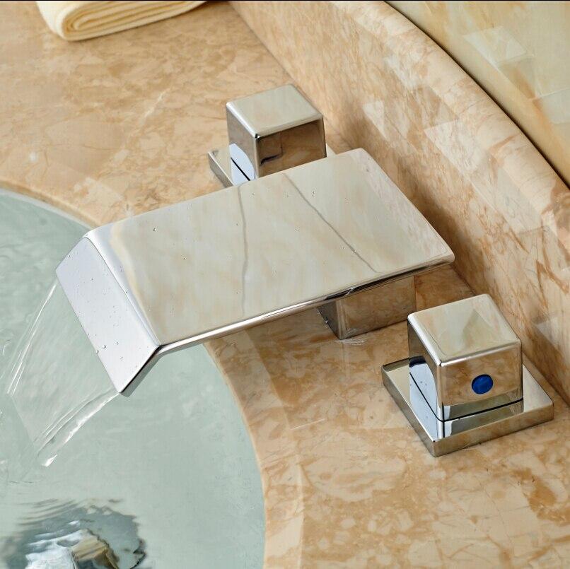 New Arrival Brass Dual Handles Hot Cold Bathroom Bathtub Basin Sink Faucet Washing Mixer Taps все цены