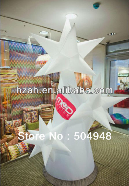 Lighted Decoration Inflatable Star Cone standing inflatable lighted decoration inflatable roman tree