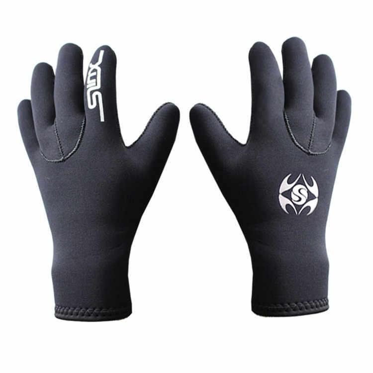 Guantes de buceo calientes de neopreno de 3mm para hombres y mujeres, guantes de buceo, guantes de pesca, buceo