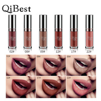 QIBEST 6 Colors Lip Paint Matte Lipstick Waterproof Long Lasting Lip Gloss Lip Kit Liquid Lipstick