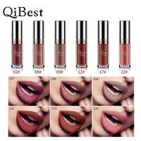 QIBEST 6 Colors Lip Paint Matte Lipstick Waterproof Long Lasting Lip Gloss Lip Kit Liquid Lipstick