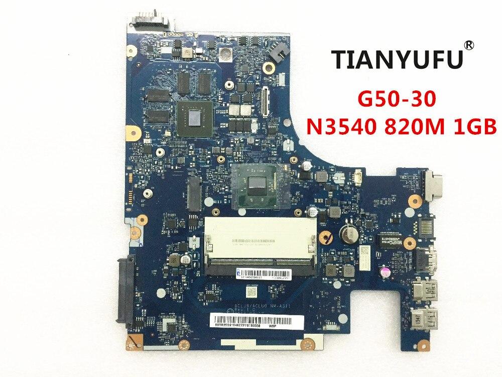 FRU 5B20G91616 For Lenovo G50 30 Laptop Motherboard ACLU9 ACLU0 NM A311 SR1YW N3540 DDR3 820M