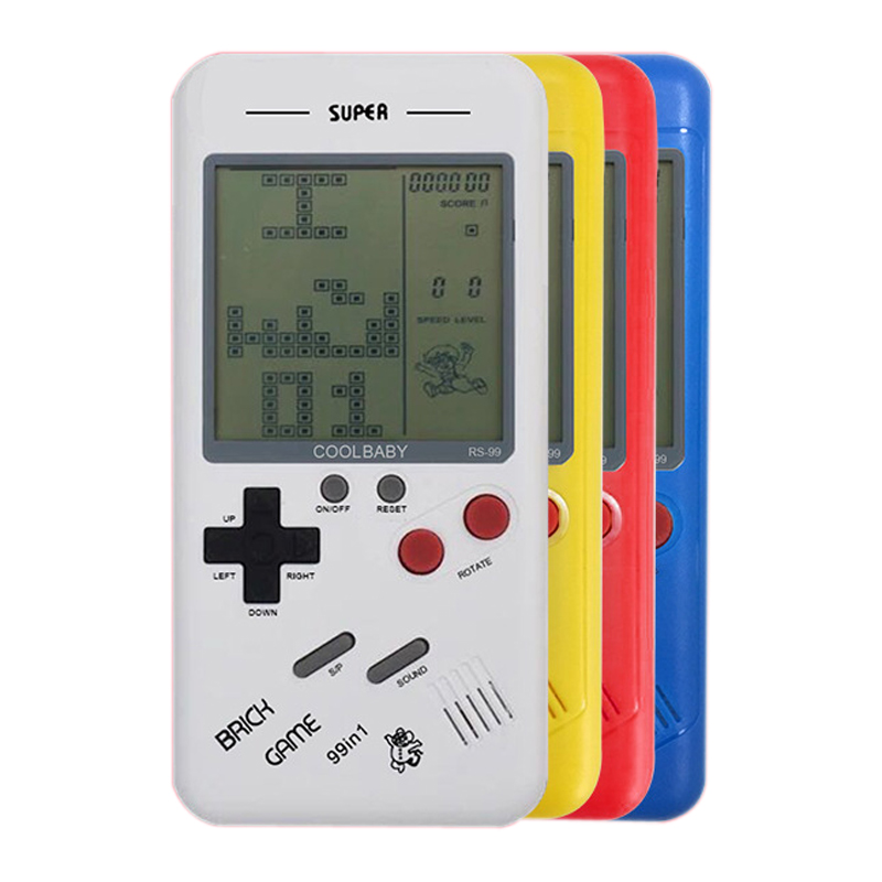 Toys Players Game-Console Riddle Tetris Handheld Electronic-Games Retro Classic Educational