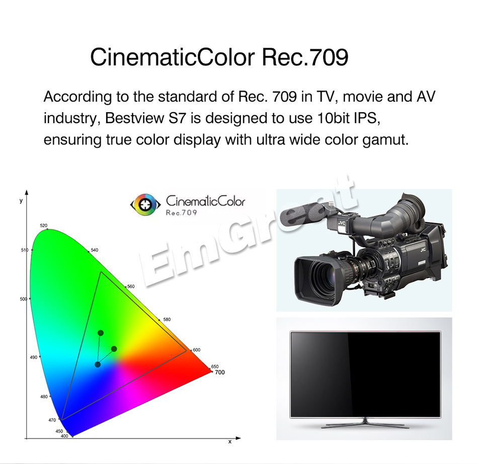 Bestview S7 4K 7 pulgadas HD Pantalla LCD de campo HDMI 1920 * 1200 + - Cámara y foto - foto 3